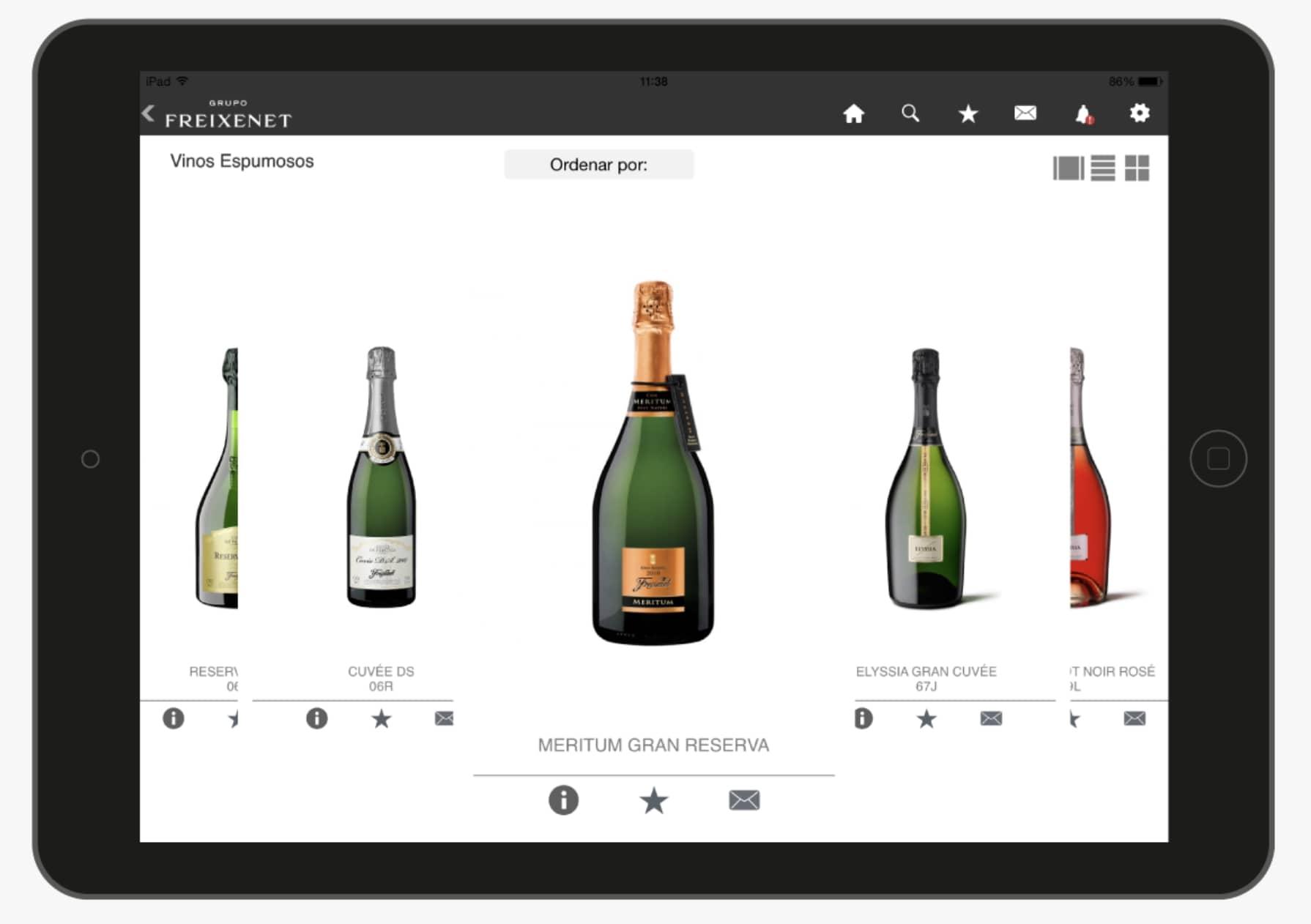 Catálogo comercial digital con productos