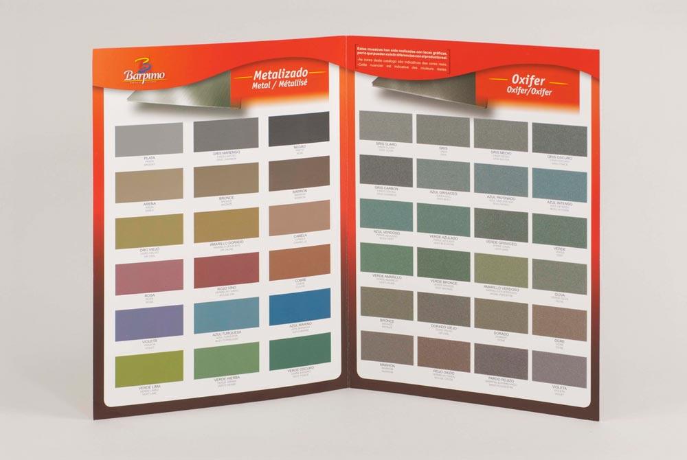 Ejemplo de carta de colores y texturas CeGe