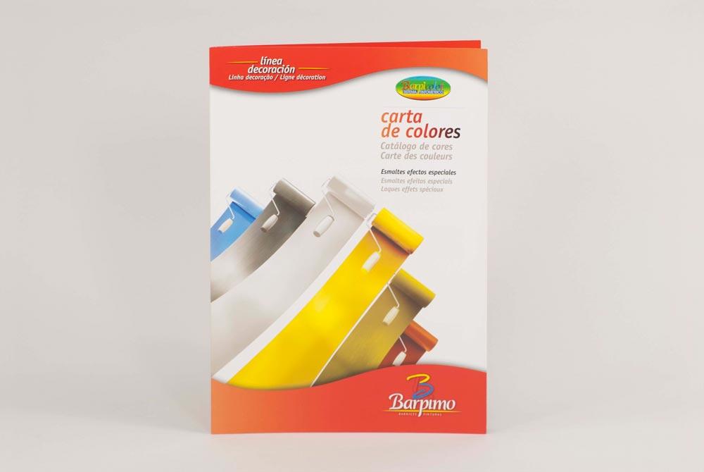 Carta de colores y texturas impresa CeGe