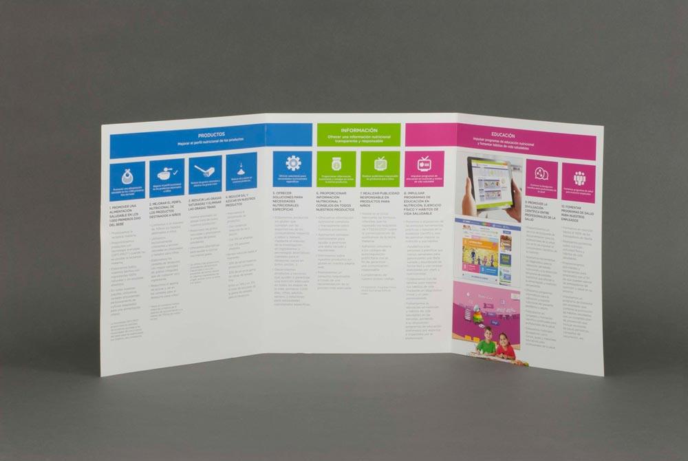 Ejemplo de impresión de materiales de marketing
