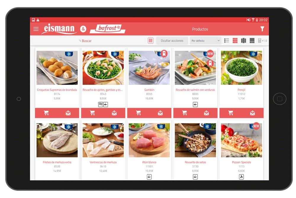 Productes en catàleg interactiu per a vendes