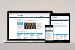 Gestor de contenidos online Caixa dispositivos móviles