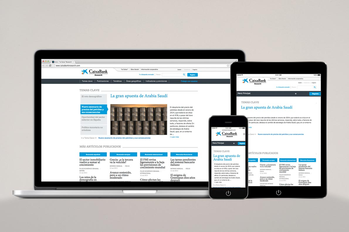 Caixa online content manager for mobile devices