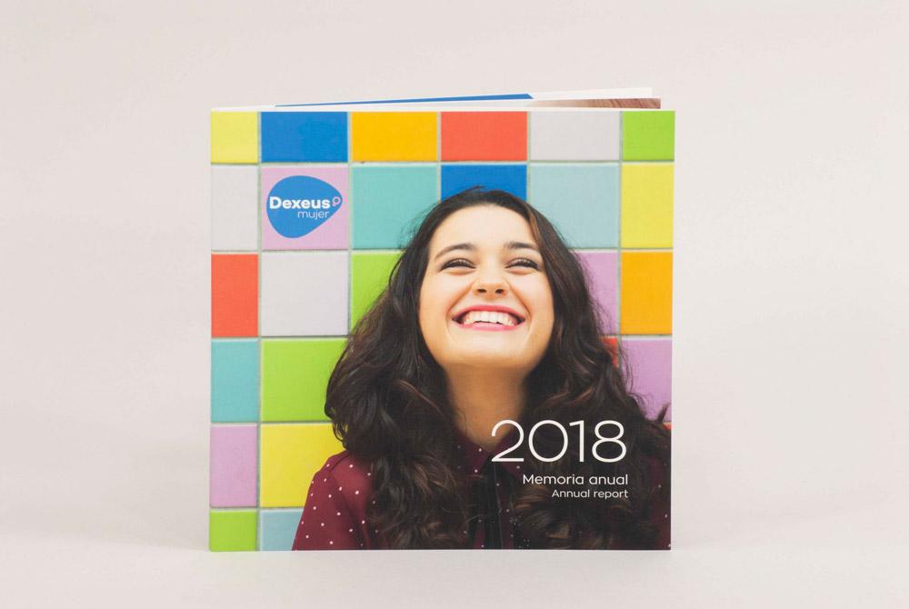 Portada memòria corporativa anual Dexeus 2018