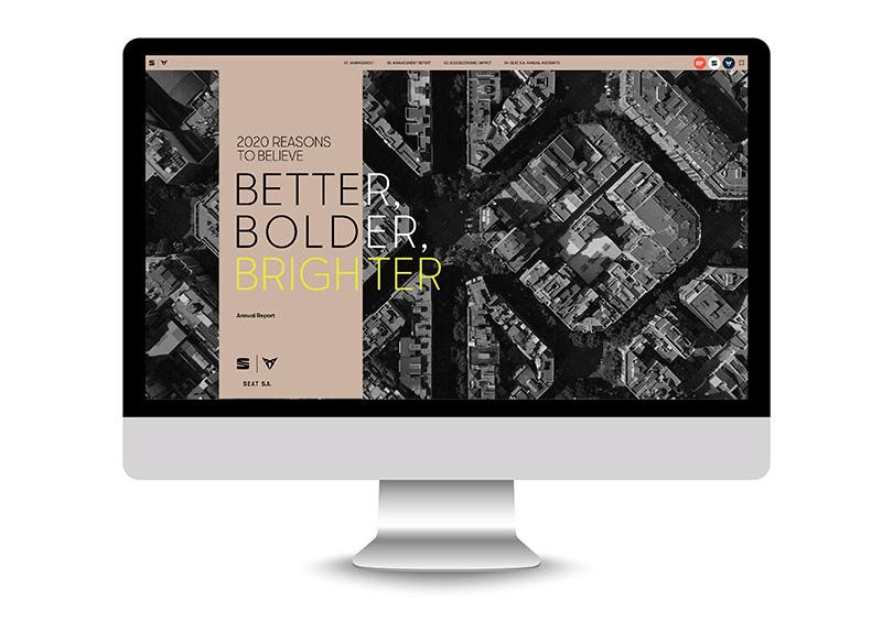 Memòria anual impresa i digital SEAT vista desktop